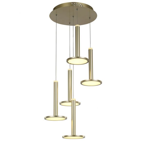 Oliver MD17033012-5A GOLD nowoczesna lampa wisząca LED Italux